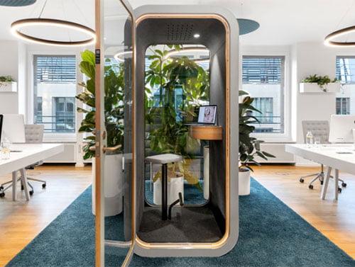 akustik ofis telefon kabini
