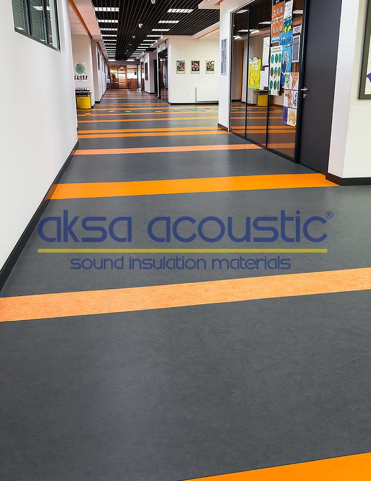 akustik pvc yer zemin kaplama