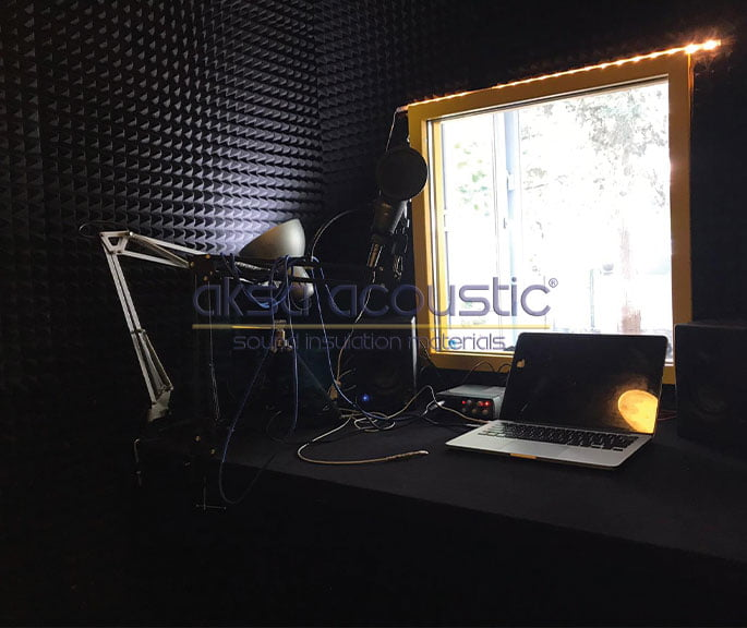 akustik ses kayıt odası kabini