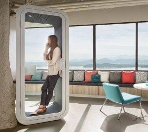 akustik ses yalıtımlı ofis kabinleri
