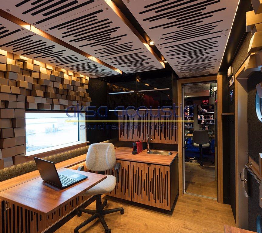 akustik stüdyo reji odası panelleri