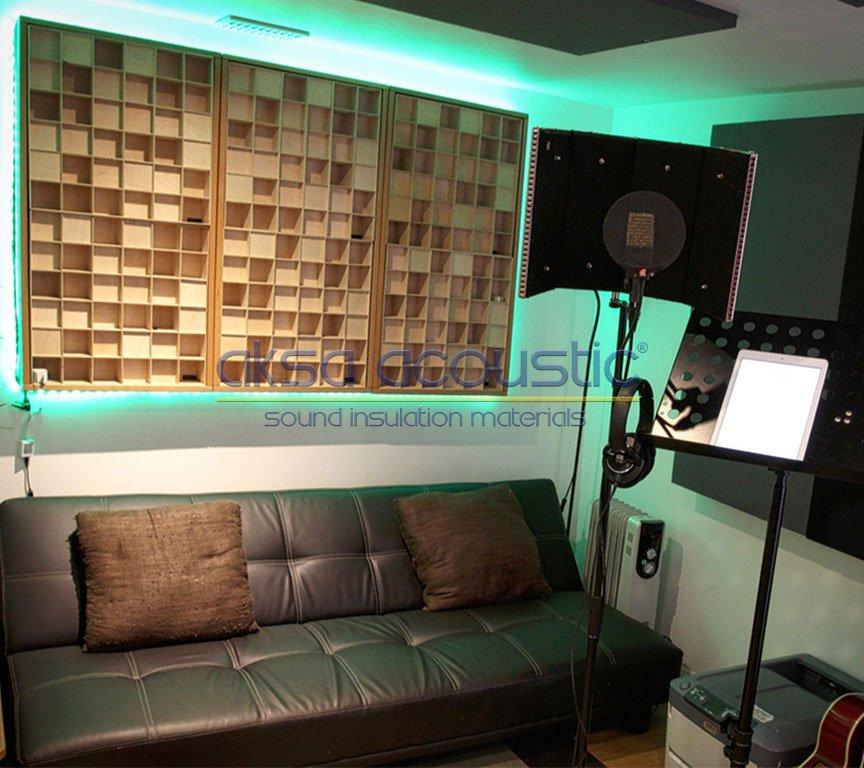 akustik stüdyo ses kayıt odası panelleri