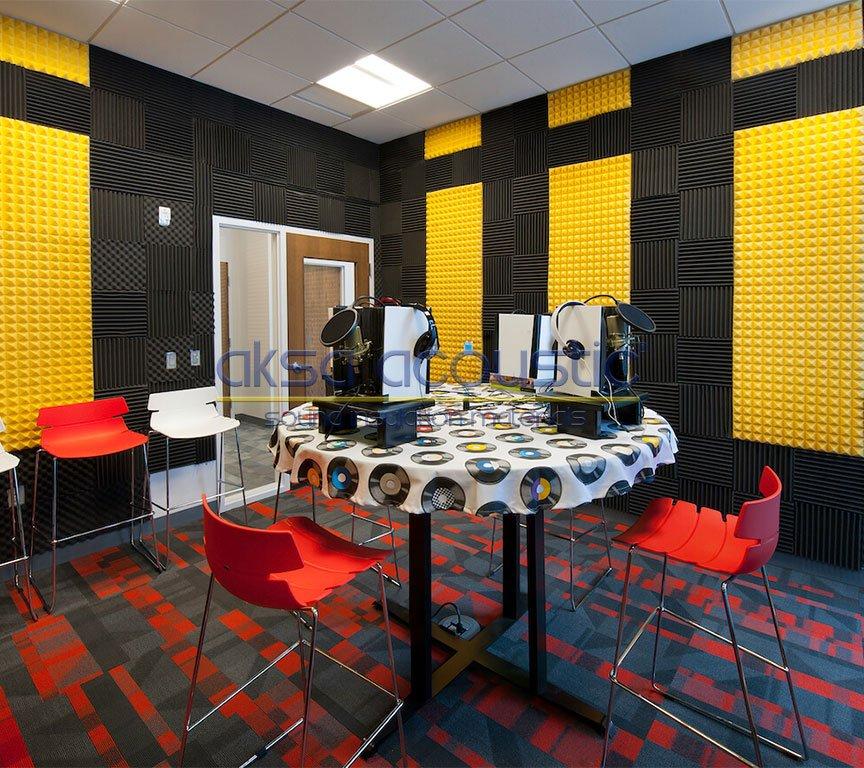 akustik stüdyo odası duvar kaplama