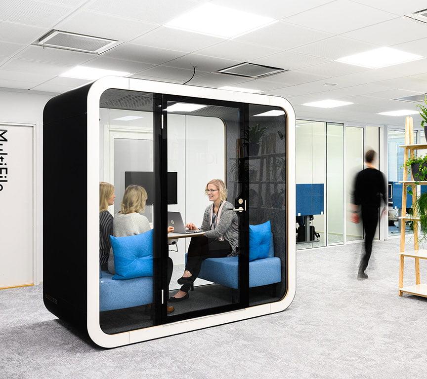 akustik toplantı kabinleri aksa pods