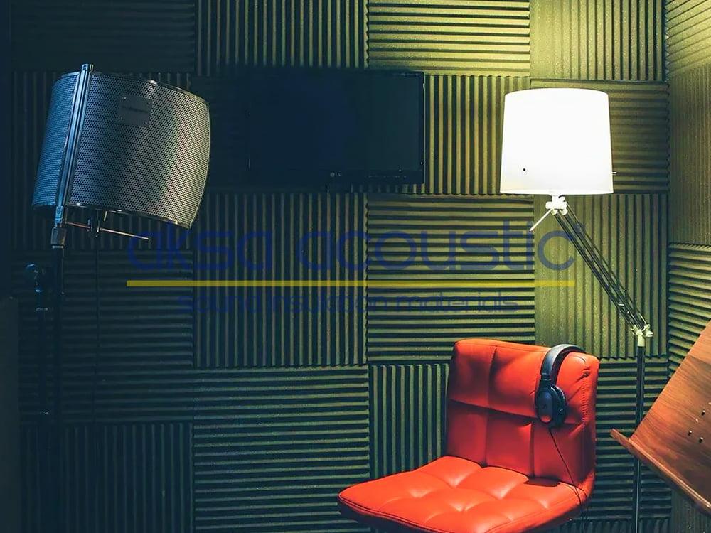 akustik zigzag sünger uygulaması