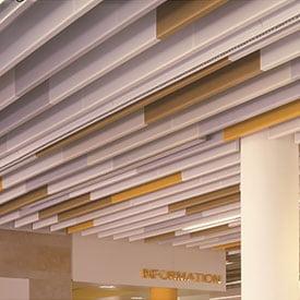 baffle metal asma tavan paneli