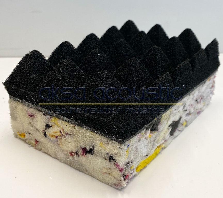 bariyerli akustik piramit sünger bondex