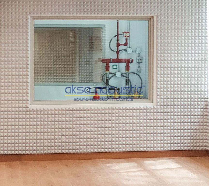 bariyerli akustik süngerpan basotect kaplama