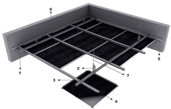 clip in metal asma tavan sistemi detaylari