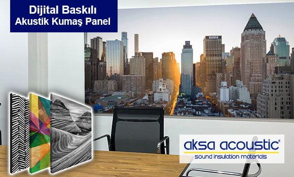 dijital baskılı akustik kumaş kaplı panel