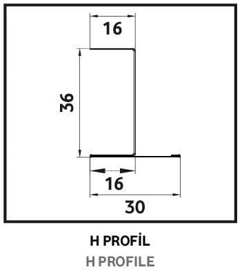 h profil metal asma tavan sistemleri