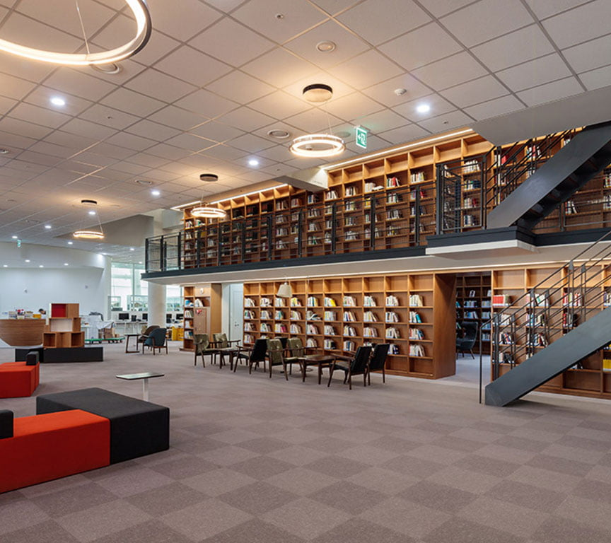 karo halı kütüphane ses yalıtımı