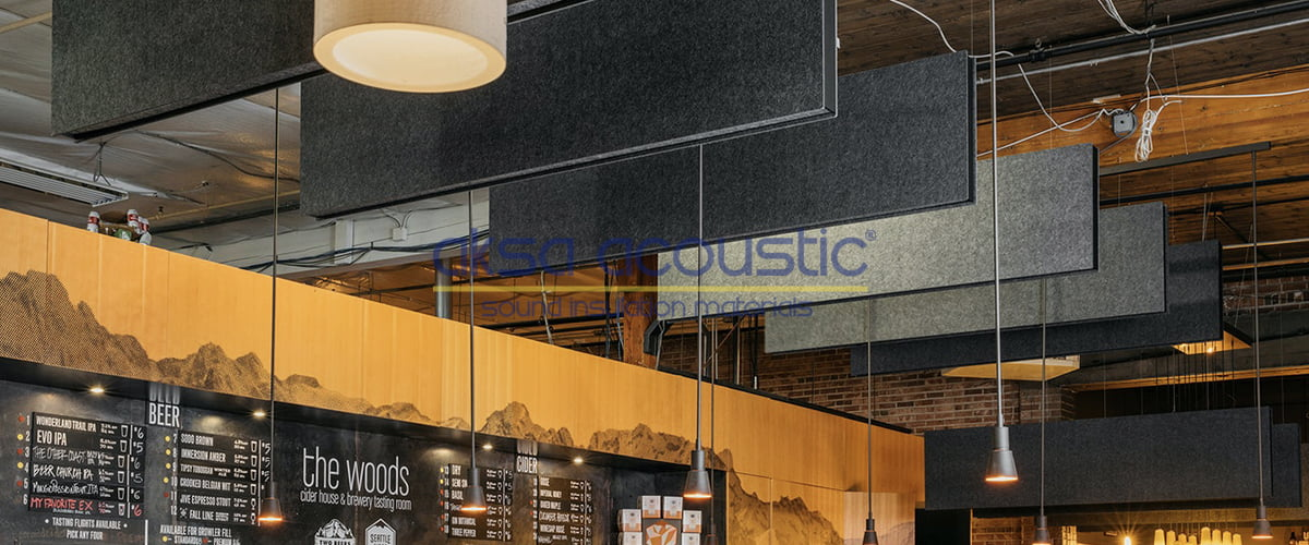 akustik keçe baffle panel