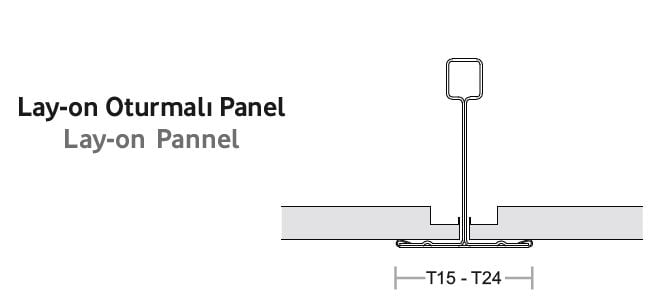 lay on oturtmali metal asma tavan paneli