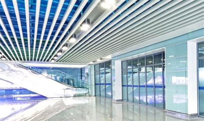 linear metal asma tavan paneli sistemleri