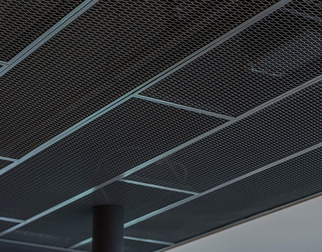 mesh metal asma tavan paneli