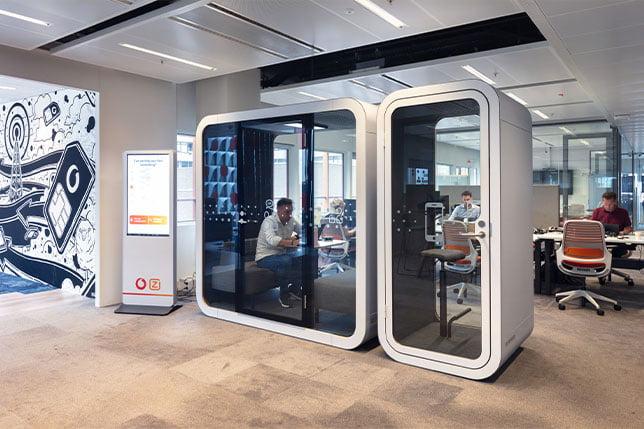 ofis akustik ses yalıtımlı kabin