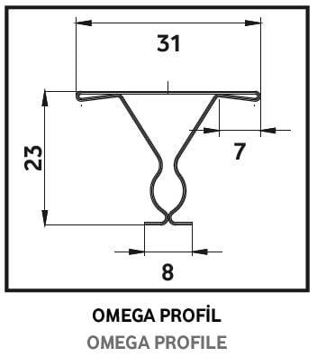 omega profil metal asma tavan