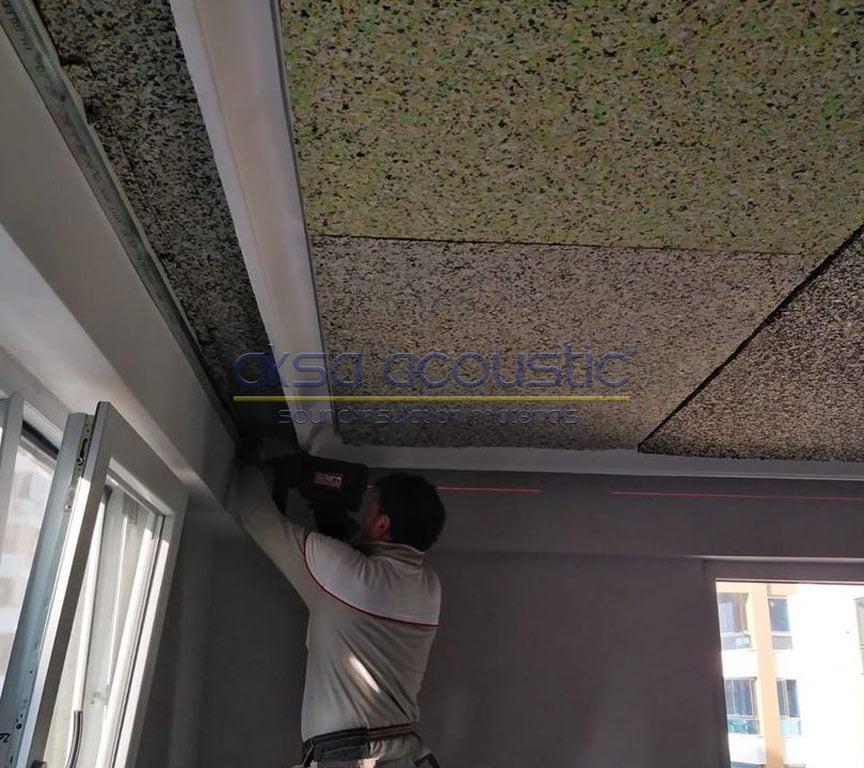 tavan ses yalıtımı bondex sünger uygulaması