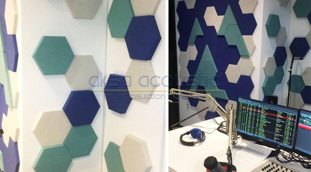 radyo alaturka akustik kumaş kaplı panel uygulaması