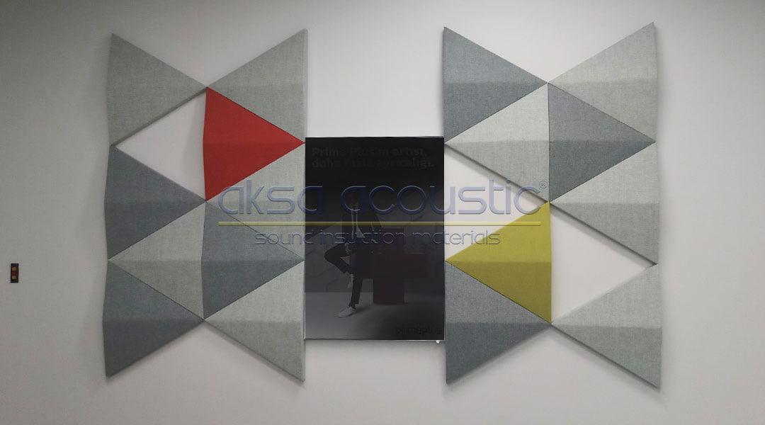 turkcell 3d akustik kumaş kaplı panel uygulaması